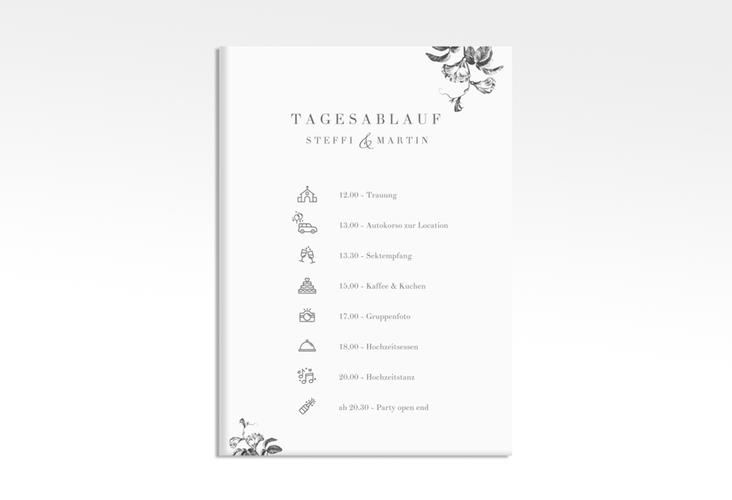 """Tagesablauf Leinwand Hochzeit """"Magnificent"""" 50 x 70 cm Leinwand schwarz"""