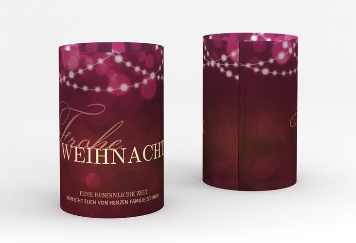 """Windlicht Weihnachten """"Lichterzauber"""" Windlicht pink"""