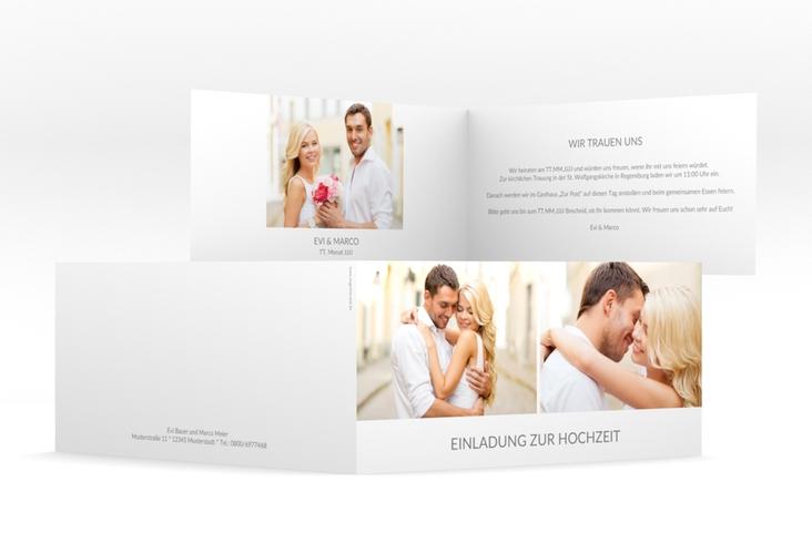 """Hochzeitseinladung """"Vista"""" DIN lang Klappkarte"""