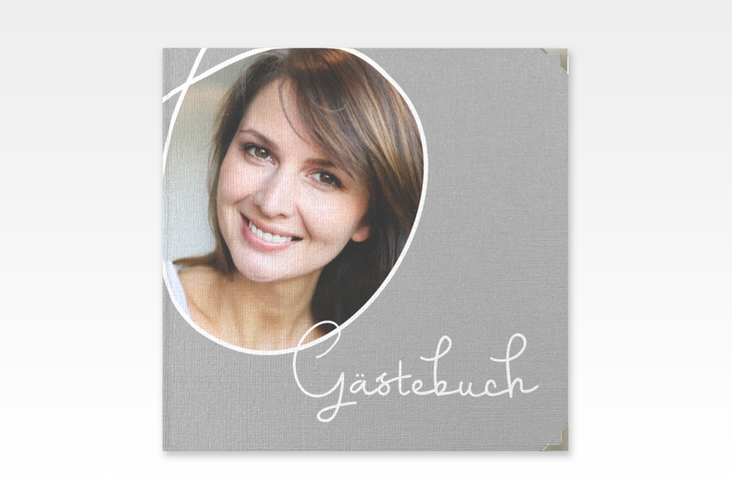 "Gästebuch Selection Geburtstag ""Swing"" Leinen-Hardcover grau"