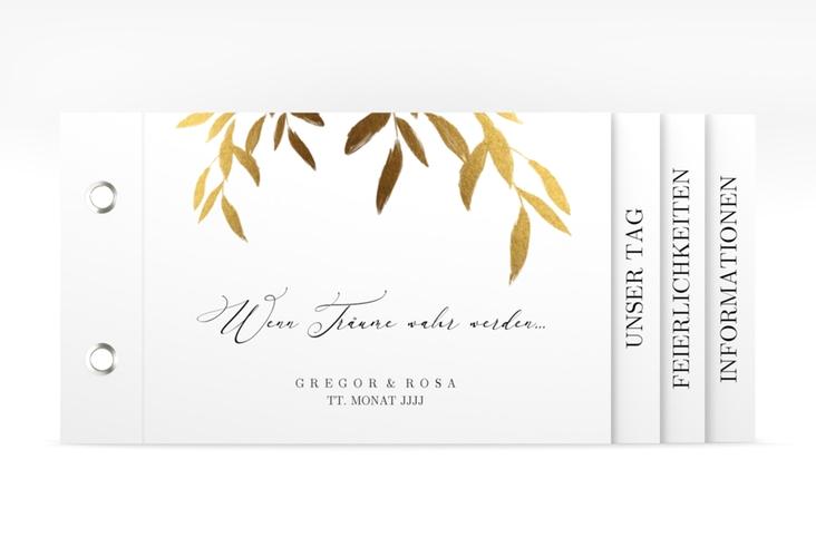 """Hochzeitseinladung """"Demure"""" Booklet"""