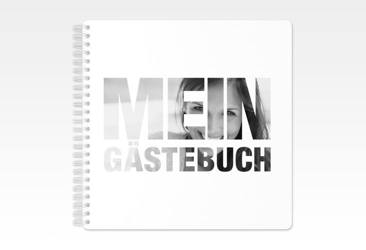 "Gästebuch Geburtstag ""Numbers"" Ringbindung weiss"