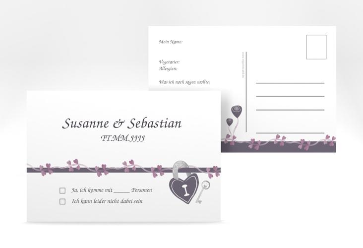 "Antwortkarte Hochzeit ""Oviedo"" A6 Postkarte"