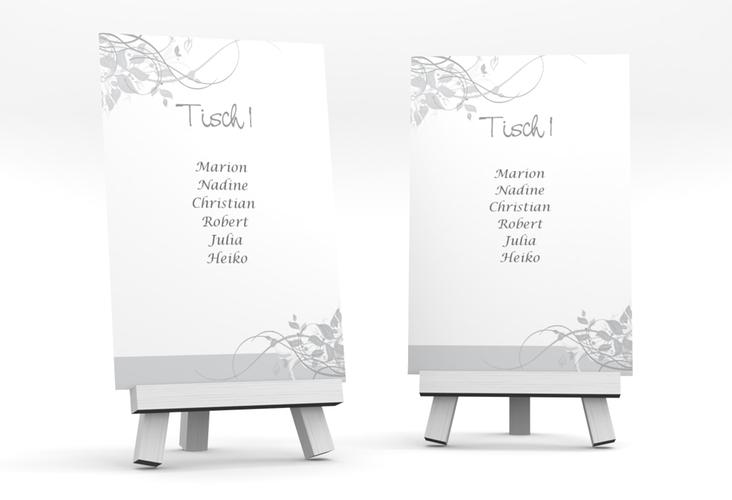 """Tischaufsteller Hochzeit """"Florenz"""" Tischaufsteller grau"""