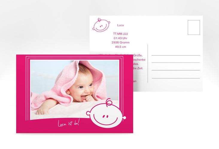Geburtskarte Smiley A6 Postkarte