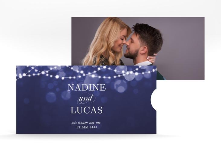 """Hochzeitseinladung """"Lichtspiel"""" Einsteckkarte"""