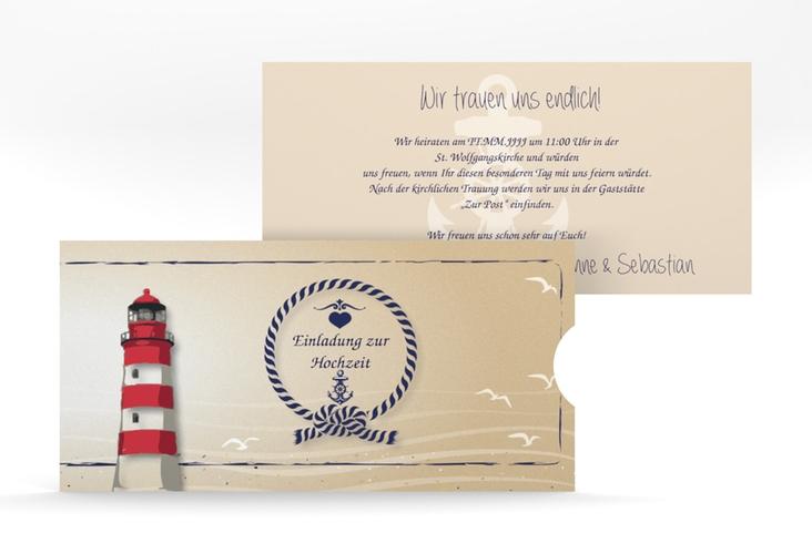 """Hochzeitseinladung """"Sylt"""" Einsteckkarte"""