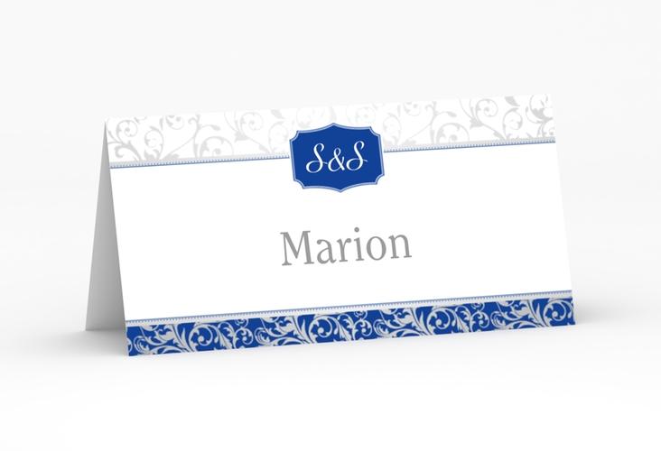 """Tischkarte Hochzeit """"Latina"""" Tischkarten blau"""