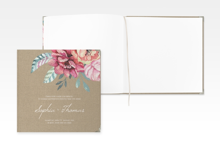 """Gästebuch Selection Hochzeit """"Blooming"""" Hardcover"""