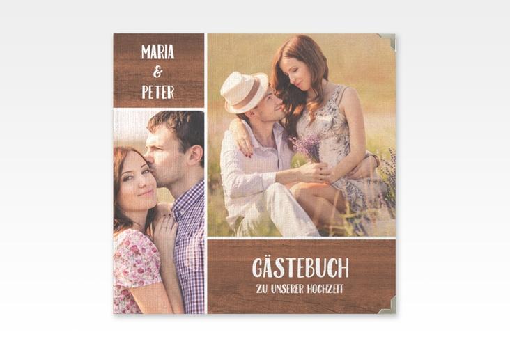 """Gästebuch Selection Hochzeit """"Landliebe"""" Leinen-Hardcover"""