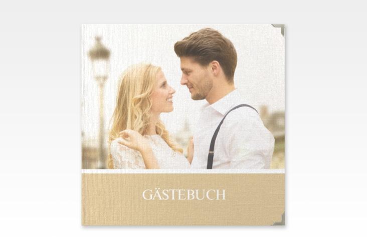 """Gästebuch Selection Hochzeit """"Balance"""" Leinen-Hardcover beige"""