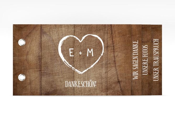 """Danksagungskarte Hochzeit """"Wood"""" Booklet"""