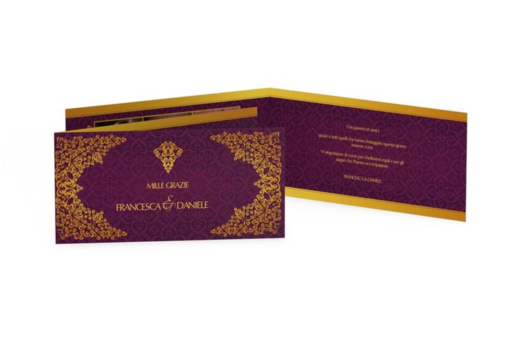 Ringraziamenti matrimonio collezione Istanbul DIN lang Klappkarte