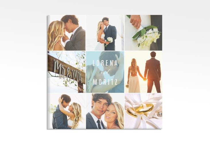 """Hochzeitscollage Leinwand """"Memory"""" 30 x 30 cm Leinwand tuerkis"""
