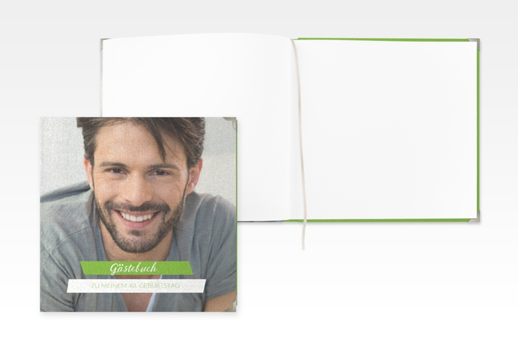 "Gästebuch Selection Geburtstag ""Happy"" Leinen-Hardcover"