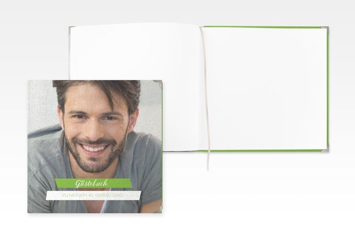 """Gästebuch Selection Geburtstag """"Happy"""" Leinen-Hardcover gruen"""