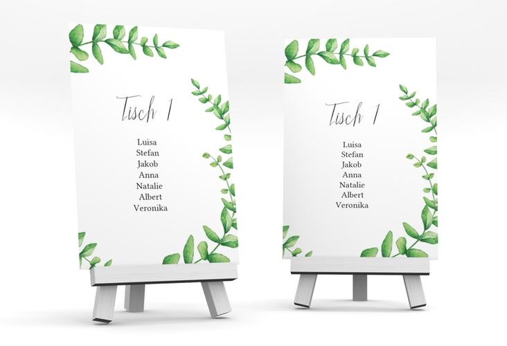 """Tischaufsteller Hochzeit """"Botany"""" Tischaufsteller weiss"""