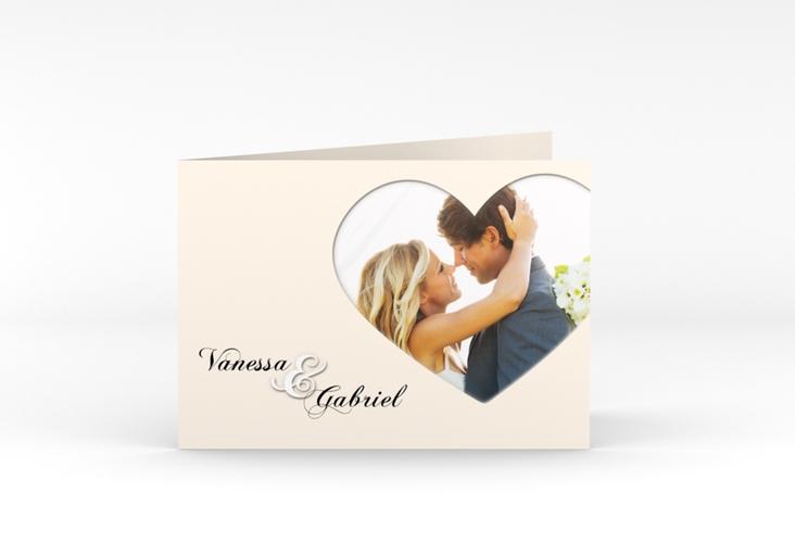 """Danksagungskarte Hochzeit """"Sweetheart"""" A6 Klappkarte Quer"""