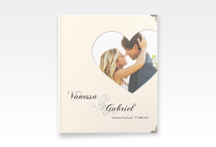 """Hochzeitsalbum """"Sweetheart"""" 21 x 25 cm beige"""