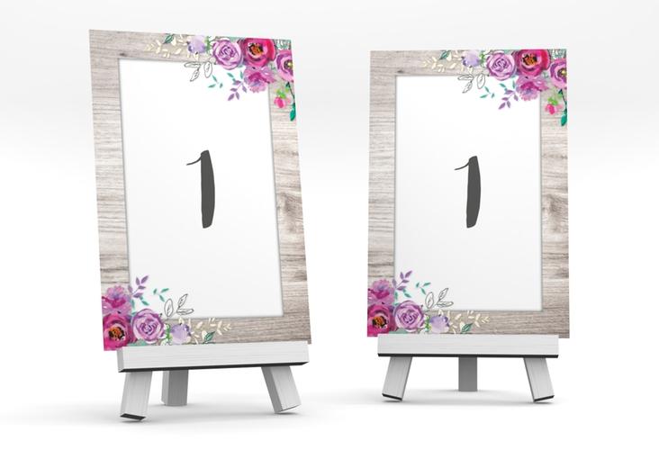 """Tischnummer Hochzeit """"Flourish"""" Tischaufsteller weiss"""