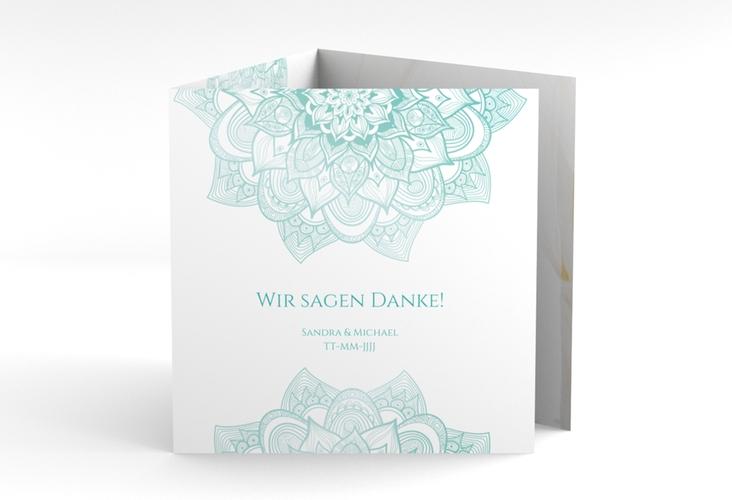 """Dankeskarte Hochzeit """"Delight"""" Quadr. Karte doppelt mint"""