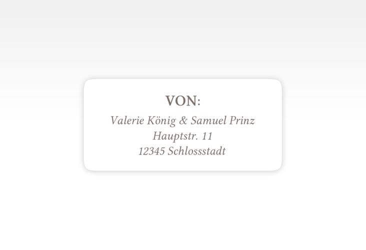 """Absenderetikett Hochzeit """"Ivy"""" 45,7 x 21,2 mm"""