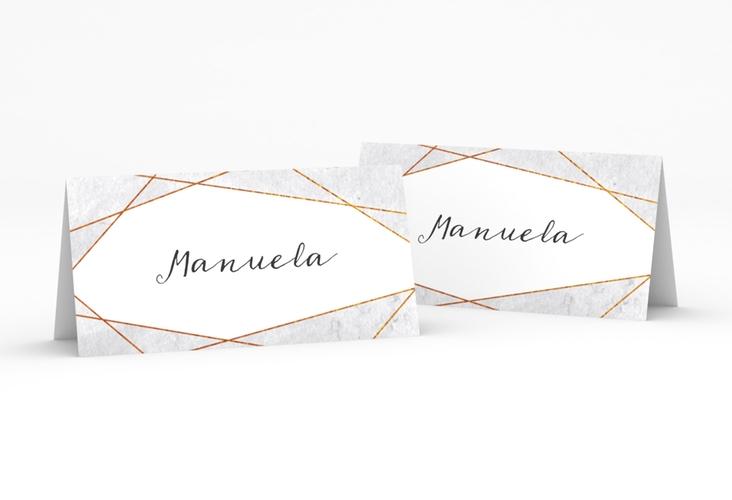 """Tischkarte Hochzeit """"Asymmetry"""" Tischkarten grau"""