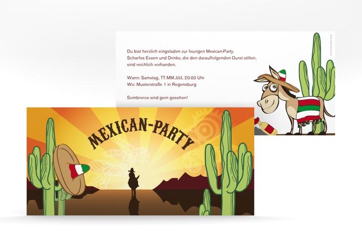 "Partyeinladung ""Mexican"" DIN lang"