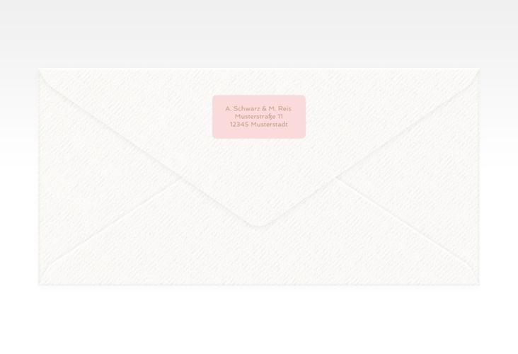 """Absenderetikett Hochzeit """"Glam"""" 45,7 x 21,2 mm rosa"""