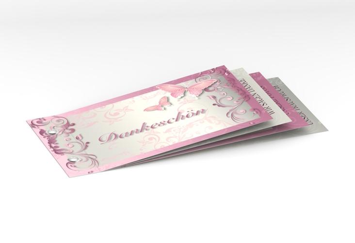 "Danksagungskarte Hochzeit ""Toulouse"" Booklet rosa"