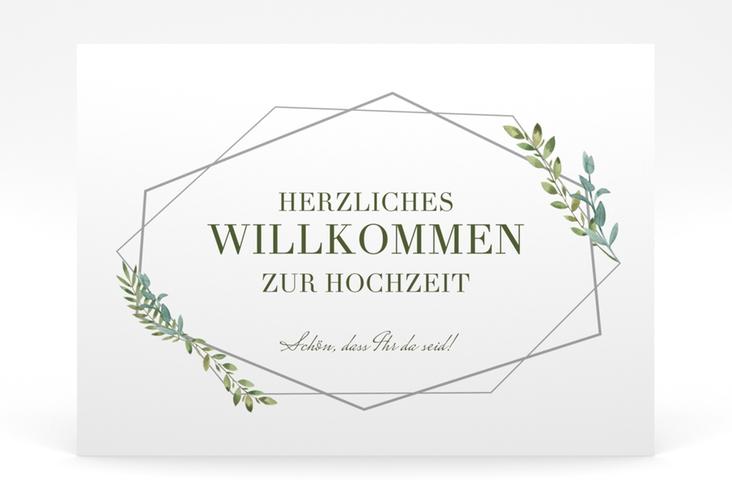 """Willkommensschild Poster """"Herbarium"""" 70 x 50 cm Poster grau"""
