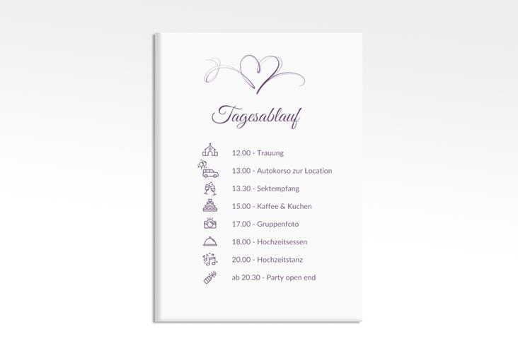 "Tagesablauf Leinwand Hochzeit ""Envie"" 50 x 70 cm Leinwand lila"