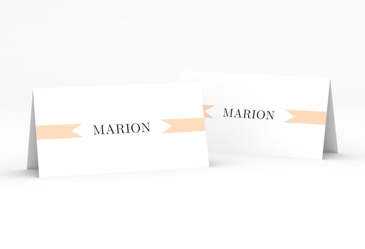 """Tischkarte Hochzeit """"Tender"""" Tischkarten beige"""