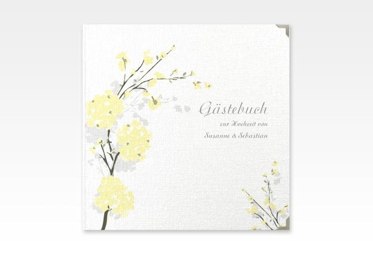 """Gästebuch Selection Hochzeit """"Salerno"""" Leinen-Hardcover gelb"""