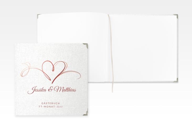 """Gästebuch Selection Hochzeit """"Envie"""" Leinen-Hardcover rot"""