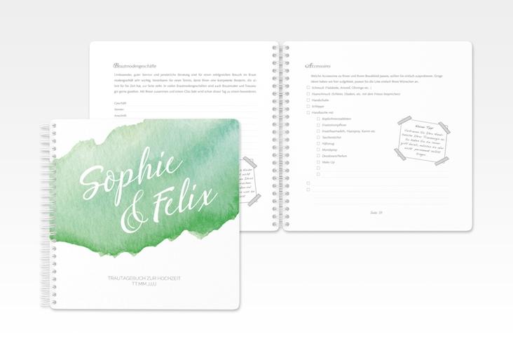 """Trautagebuch Hochzeit """"Aquarella"""" Trautagebuch Hochzeit gruen"""