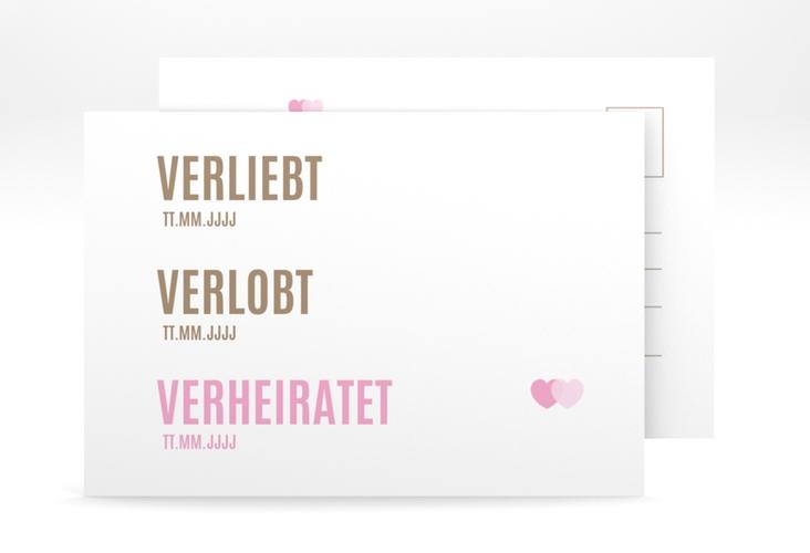 "Antwortkarte Hochzeit ""Couple"" A6 Postkarte"