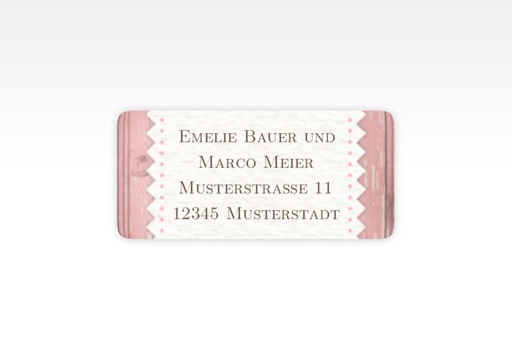 """Absenderetikett Hochzeit """"Heimatjuwel"""" 45,7 x 21,2 mm"""