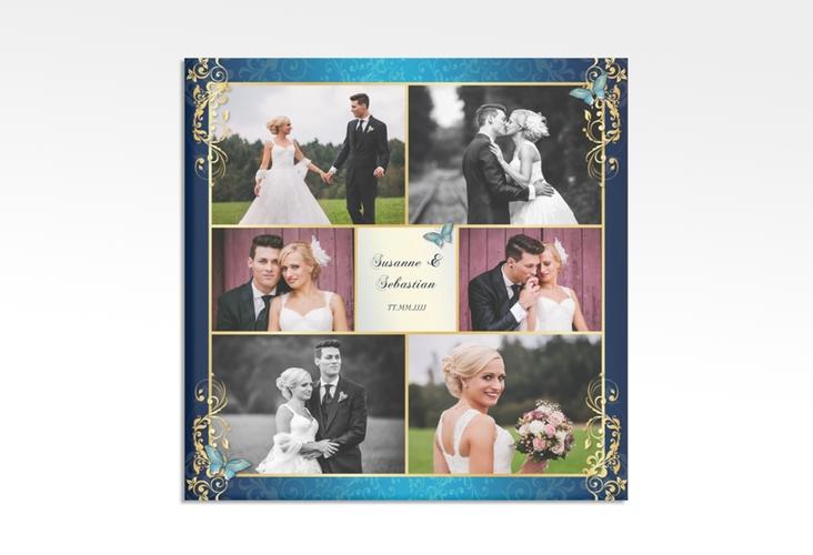 """Hochzeitscollage Leinwand """"Toulouse"""" 30 x 30 cm Leinwand blau"""