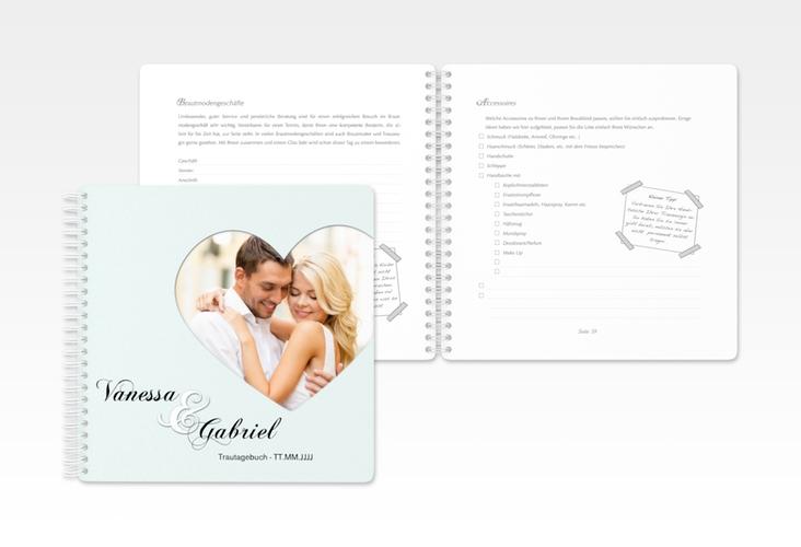 """Trautagebuch Hochzeit """"Sweetheart"""" Trautagebuch Hochzeit tuerkis"""