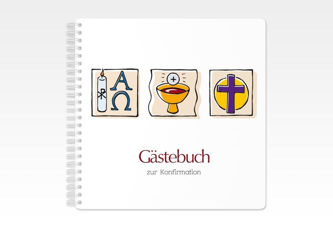 "Gästebuch Konfirmation ""Calicem"" Ringbindung"
