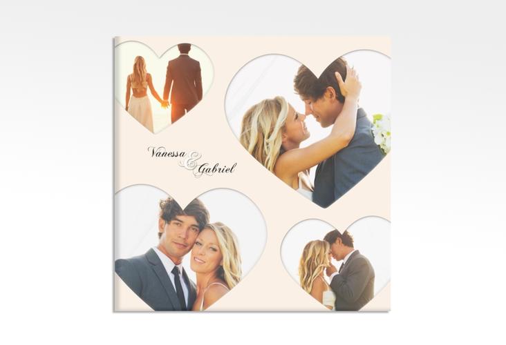 "Hochzeitscollage Leinwand ""Sweetheart"" 30 x 30 cm Leinwand beige"
