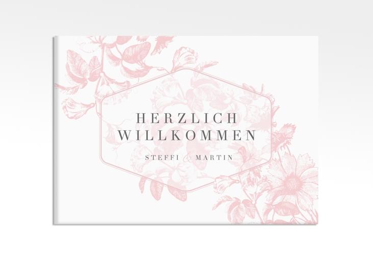 """Willkommensschild Leinwand """"Magnificent"""" 70 x 50 cm Leinwand rosa"""