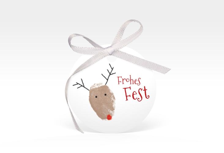 """Geschenkanhänger Weihnachten """"Rudolph"""" Geschenkanhänger, rund"""