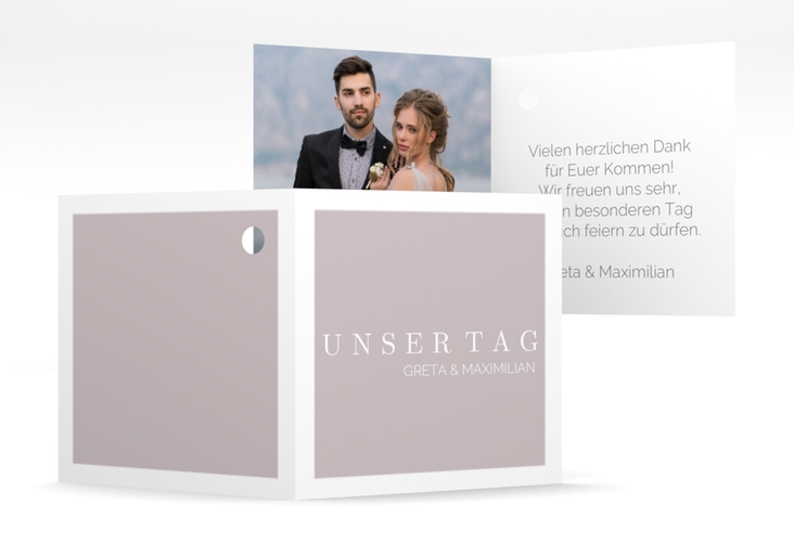 "Geschenkanhänger Hochzeit ""Simply"" Geschenkanhänger 10er Set grau"