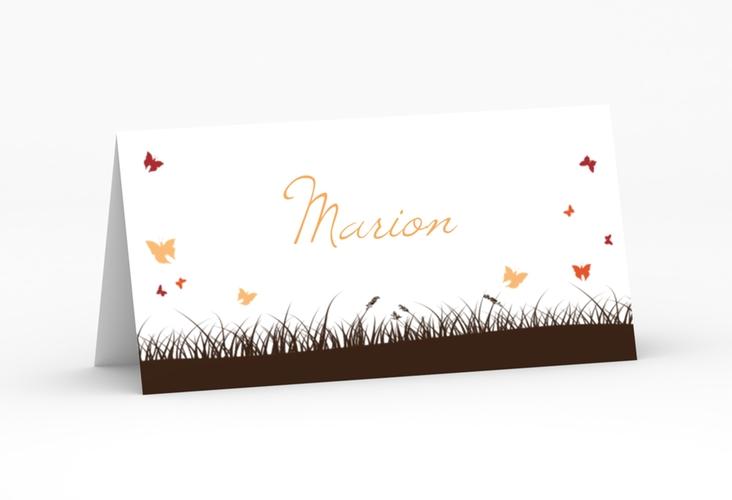 """Tischkarte Hochzeit """"Rouen"""" Tischkarten braun"""
