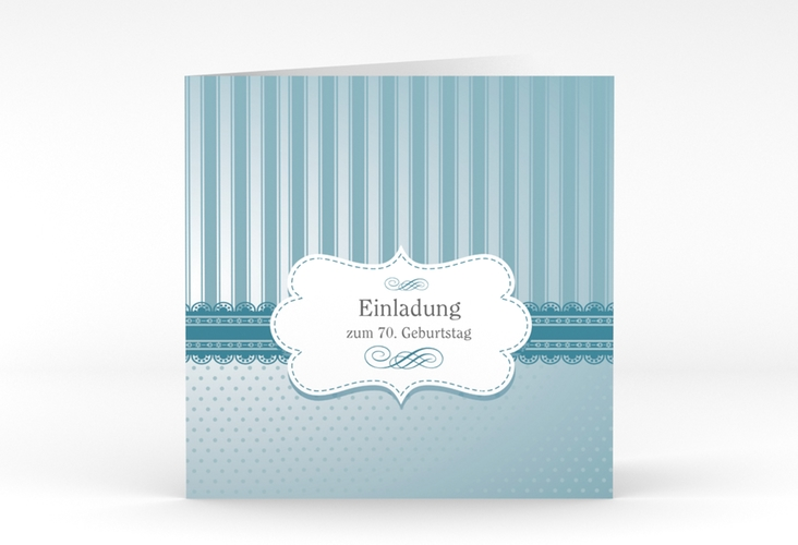 """Einladungskarte """"Heinrich/Henriette"""" Quadratische Klappkarte"""