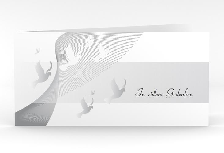 """Danksagungskarte Trauer """"Taube"""" DIN lang Klappkarte"""