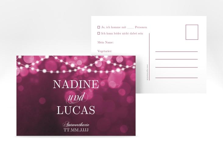 """Antwortkarte Hochzeit """"Lichtspiel"""" A6 Postkarte"""