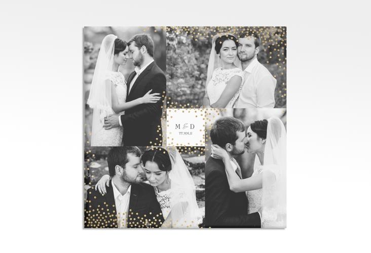 """Hochzeitscollage Leinwand """"Glitter"""" 30 x 30 cm Leinwand weiss"""